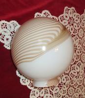 Karamell- fehér tej üveg dekorativ lámpabúra eladó