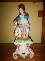 27 cm magas XIX sz.-i porcelán figura