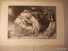 Sámson és Delila :1880 készült fametszet