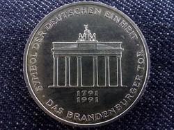 Brandenburgi Kapu ezüst emlék 10 Márka 1991 /id 5734/