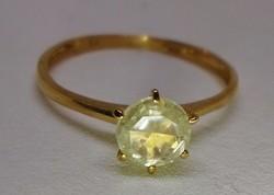 Szép valódi különleges  0.57ct Moissanite gyémánt arany gyűrű Akció!!