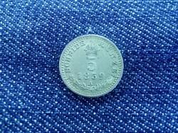 Ferenc József ezüst 5 krajcár 1859 A - verőtő repedésekkel! (id38)