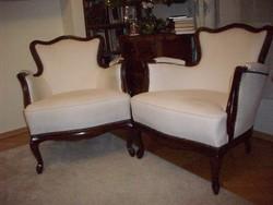 Neobarokk fotelek felújítva