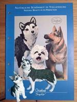 Élethűen kidolgozott Husky kutya mama kölykével Goebel Saphír kollekció darabjai 1996