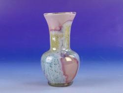 0F590 Régi kisméretű muránói művészi üveg váza