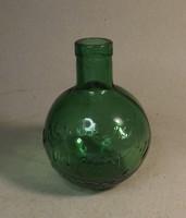 Antik Zwack unicumos üveg 11,5 cm világos zöld szín
