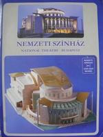 Nemzeti Színház makett kivágó, játék, modell.