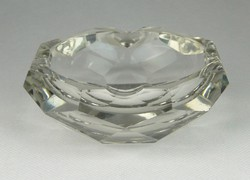0R162 Régi vastagfalú üveg hamutál
