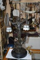 Ón figurális tiffany burás asztali lámpa