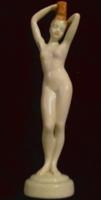 Art Deco női  porcelán akt