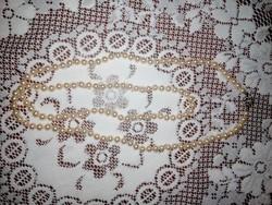 Gyönyörű antik gyöngy nyaklánc, ezüst kapoccsal