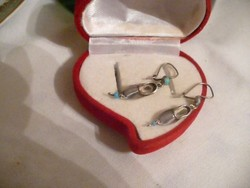 Antik ezüst papucs fülbevaló