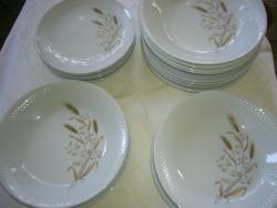 Kahla 18 db kosaras szélű tányér készlet