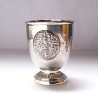 Régi, thaiföldi ezüst kupa.