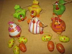 Húsvéti tojás és tyúk dekoráció