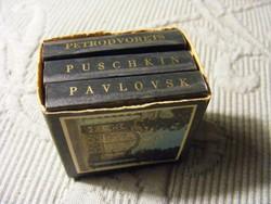 3 db orosz mini leporello együtt - Puskin - Petrodvorec - Pavlovszk