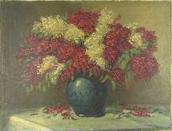 0U883 Friedrich Gábor : Asztali virágcsendélet