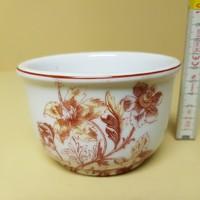 Mályvavirágos porcelán komacsésze (586)
