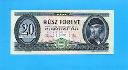 Hajtatlan  !!!!  Unc !!!! 20 Forint 1965 MINTA csak perforált!!