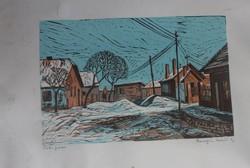 Csurgói Máté Lajos: Téli falu