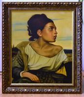 Eperjessy szignóval festmény, 61 x 51 cm, olaj vászon, jjl., kerettel 75 x 65 cm