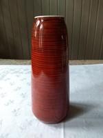 Metzler és Ortloff váza, piros fekete csíkos