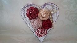 Rózsa-szív dekoráció