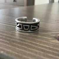Régi Uno A Erre modernista kézműves ezüst gyűrű tűzzománccal