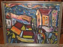 NÉMETH MIKLÓS / 1934-2002/ : VÁROSI UTCA SZERELMESPÁRRAL