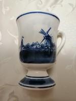 Delft-i kék kapucsínós csésze holland porcelán
