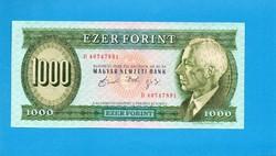 Hajtatlan  !!!! Unc !!!!  1000 Forint 1992 Október D