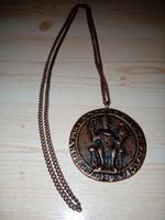 Antik bronz nyaklánc