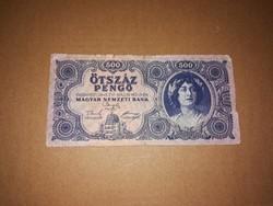 500 Pengős, régi bankjegy  1945-ből.