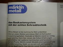 MÄRKLIN Metall B 1052 alapdoboz +  összeszerelési útmutató füzet 14900