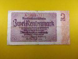 Német 2 Járadék márka 1937 /id 3437/