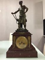 Eladó antik Émile Louis Picault szobor asztali óra 55 cm magas !
