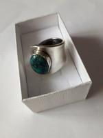 Ezüst gyűrű, EGYEDI, türkizzel
