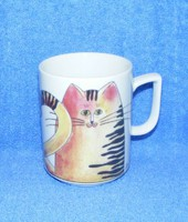 Porcelán cicás bögre