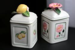 Villeroy and Boch hermetikus fűszertartók lemon garden és cseresznyevirág