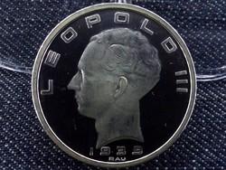 Ritka ezüst belga 50 frank tükörveret, utánveret 1939 (id1348)