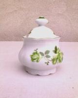 Mitterteich zöld rózsás porcelán cukortartó