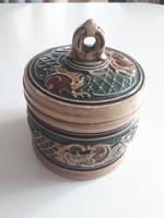Antik Dohány tartó Mázas Kerámia