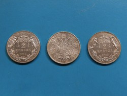I. Ferencz József ezüst 2 Korona 3 darab