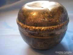 Antik,ezüstözött jelzett  fedeles bonboniker 9 x 10 cm-es
