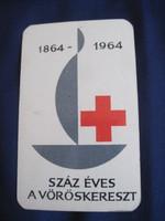 1964. Kártyanaptár - Magyar Vöröskereszt