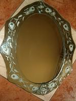 Velencei stílusú ovális fali tükör