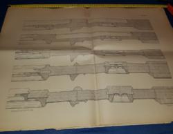 Balogh.Raffay:Épületasztalosság,1887.XII.lap,70x50 cm,megtörve..21 db,természetesen együtt olcsóbb!