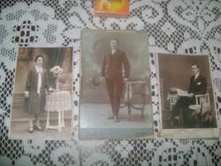 Antik fotó - három darab