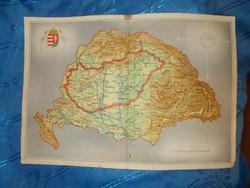 Régi írredenta csonka magyarország papír térkép