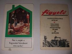 1970-es és 1971-es naptár a 2 darab 400.-Ft